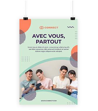 affiche publicitaire l-agence-communication.fr