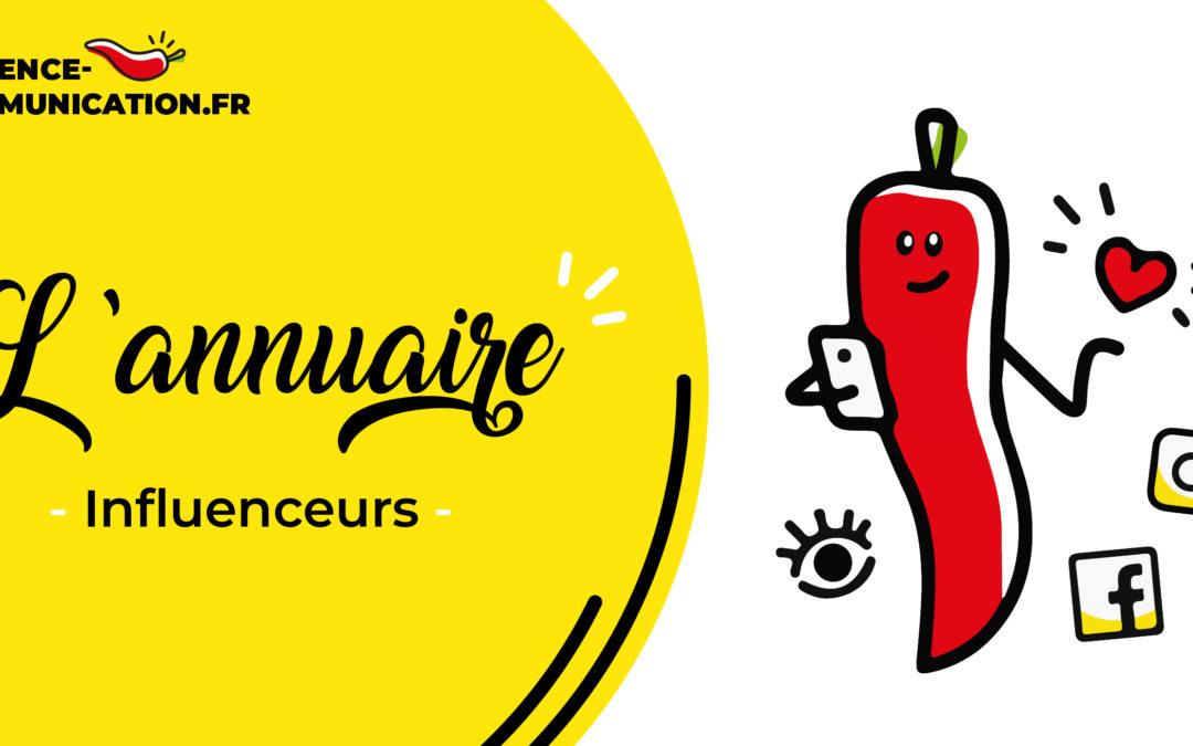 L'annuaire des influenceurs français